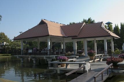 Pavillion on the pond, Suan Buak Haad (Park)