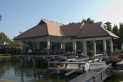 The Pavilion on the pond